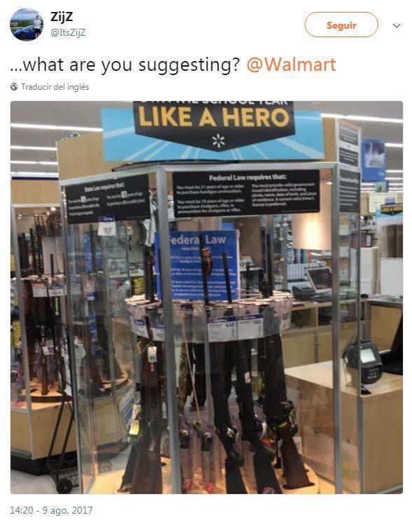 walmart armas - Walmart genera polémica en Estados Unidos