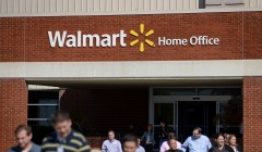NWA Democrat-Gazette/BEN GOFF @NWABENGOFF People come and go on Friday Oct. 2, 2015 at the Walmart Home Office in Bentonville. Wal-Mart Stores, Inc. announced that 450 of the retailer's roughly 18,000 home office employees were let go on Friday.