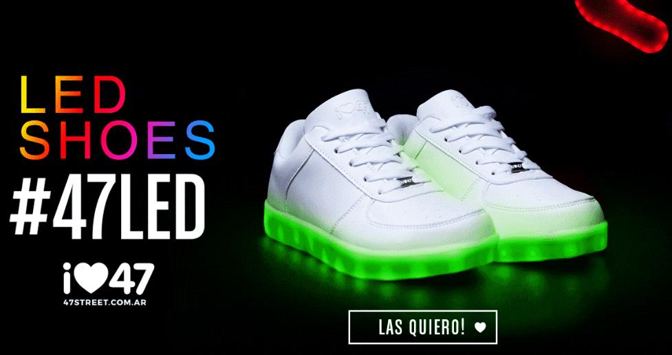 zapatillas led 47 street - 47 Street lanza sus nuevas zapatillas con luces led